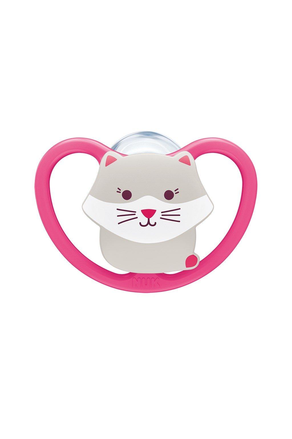 Cumlík Space NUK 6-18m mačička BOX dievča