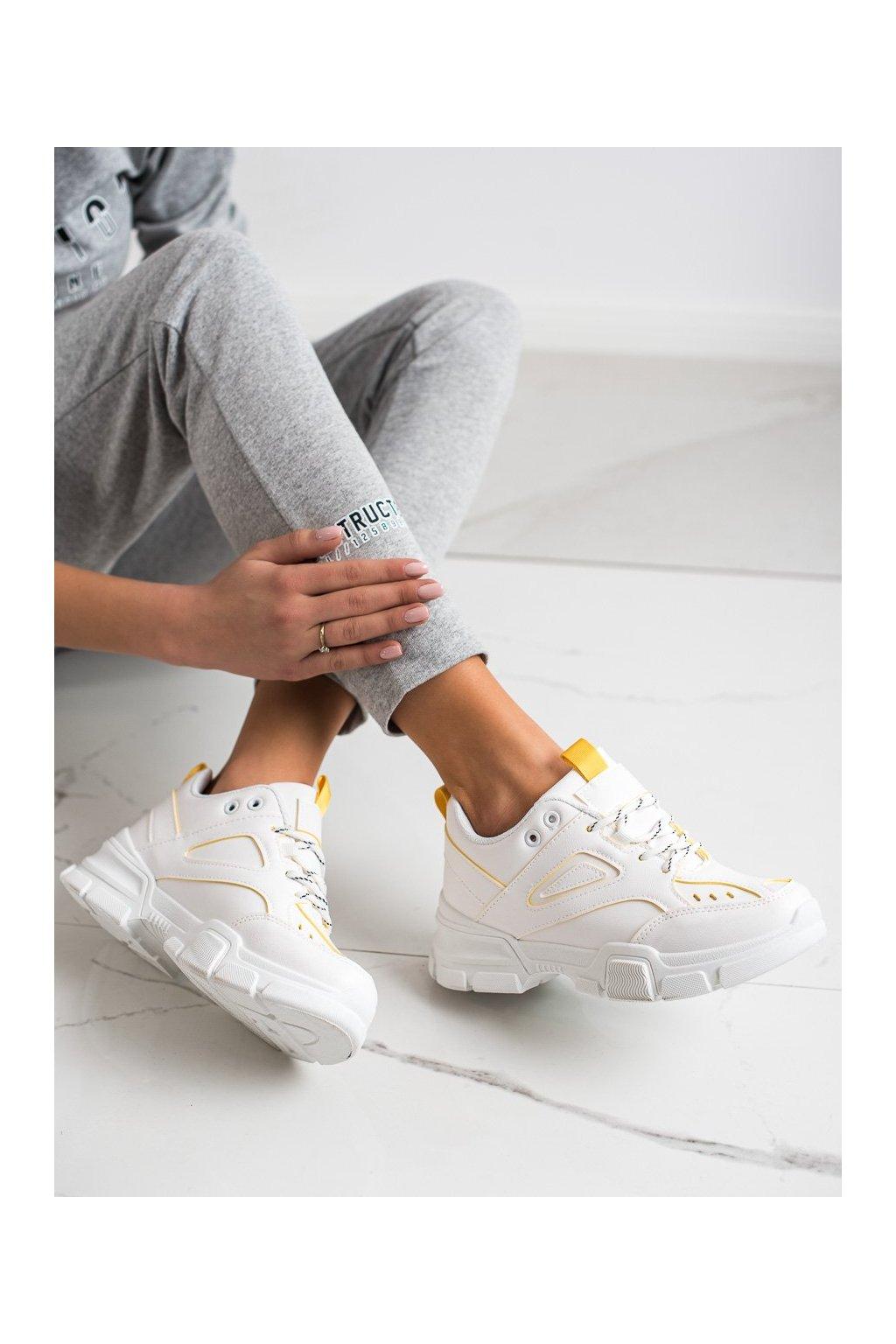Biele tenisky Shelovet kod BO-559W/Y