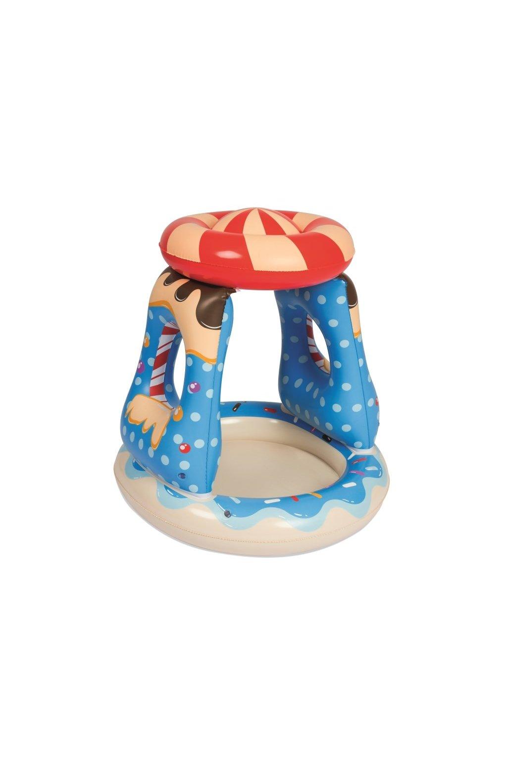 Detský nafukovací bazén so strieškou Bestway modrý