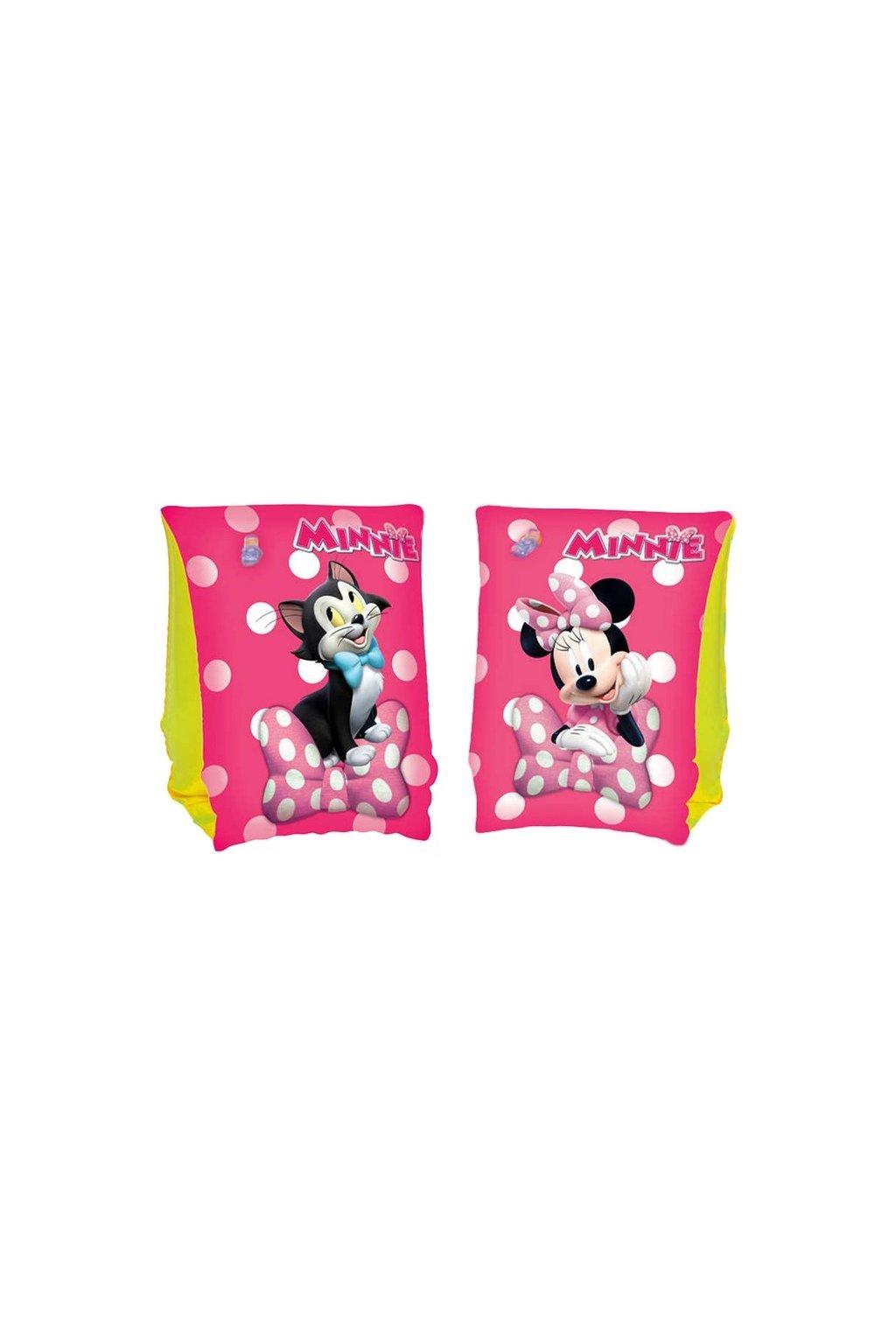 Detské nafukovacie rukávniky Bestway Minnie pink