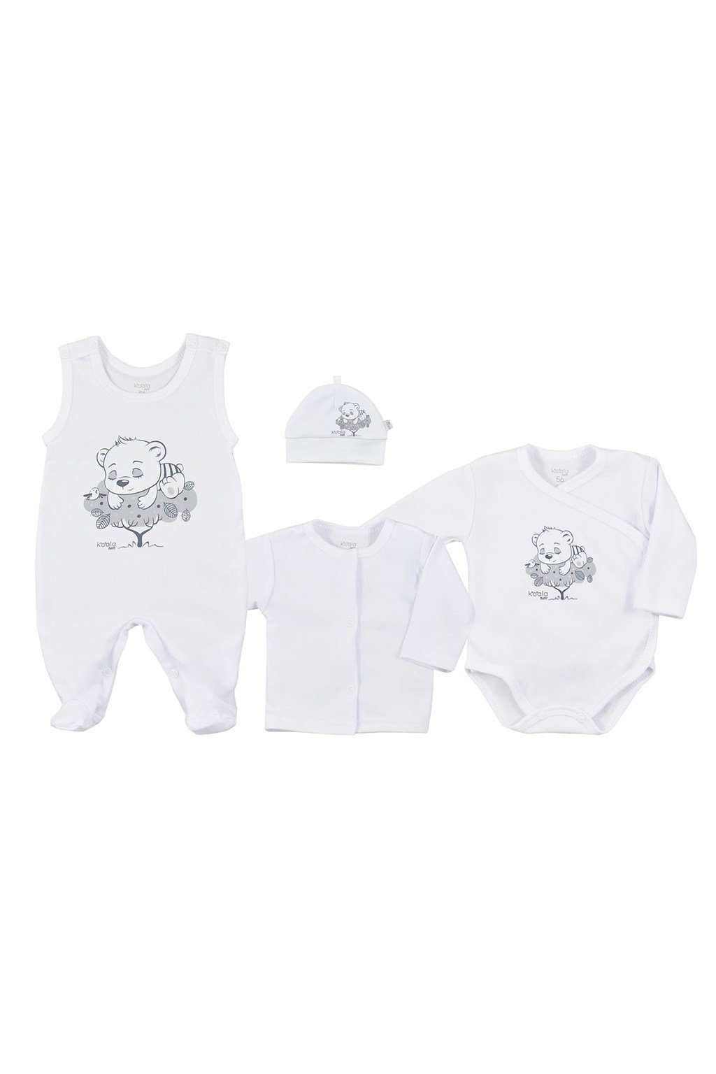 4-dielna dojčenská súprava Koala Sleeping Bear biela