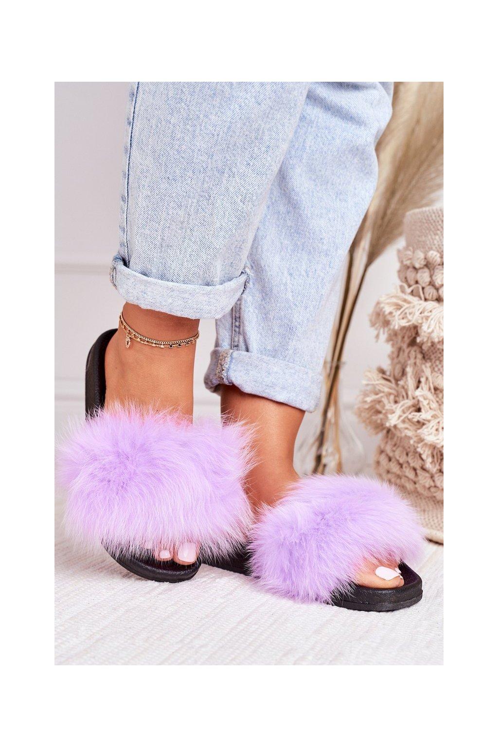 Dámske šľapky farba fialová kód obuvi WB01 PURPLE