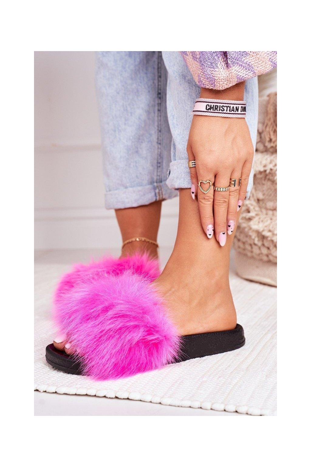 Dámske šľapky farba ružová kód obuvi WB01 FUCHSIA