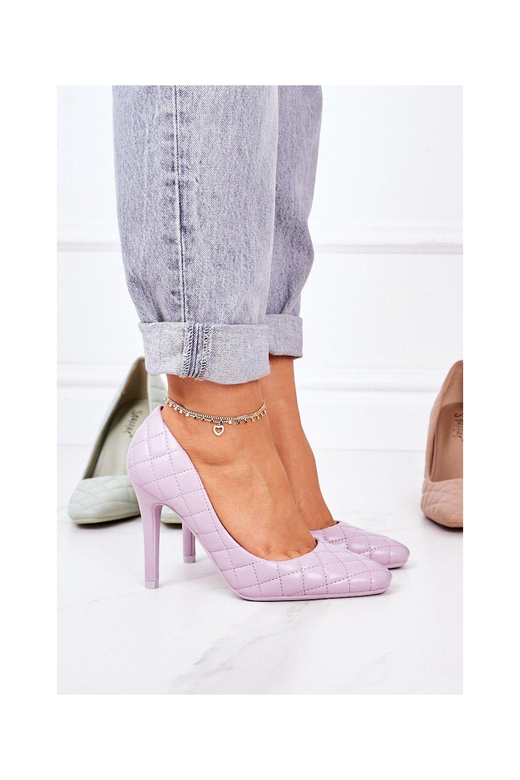 Dámske lodičky farba fialová kód obuvi LE082P PURPLE