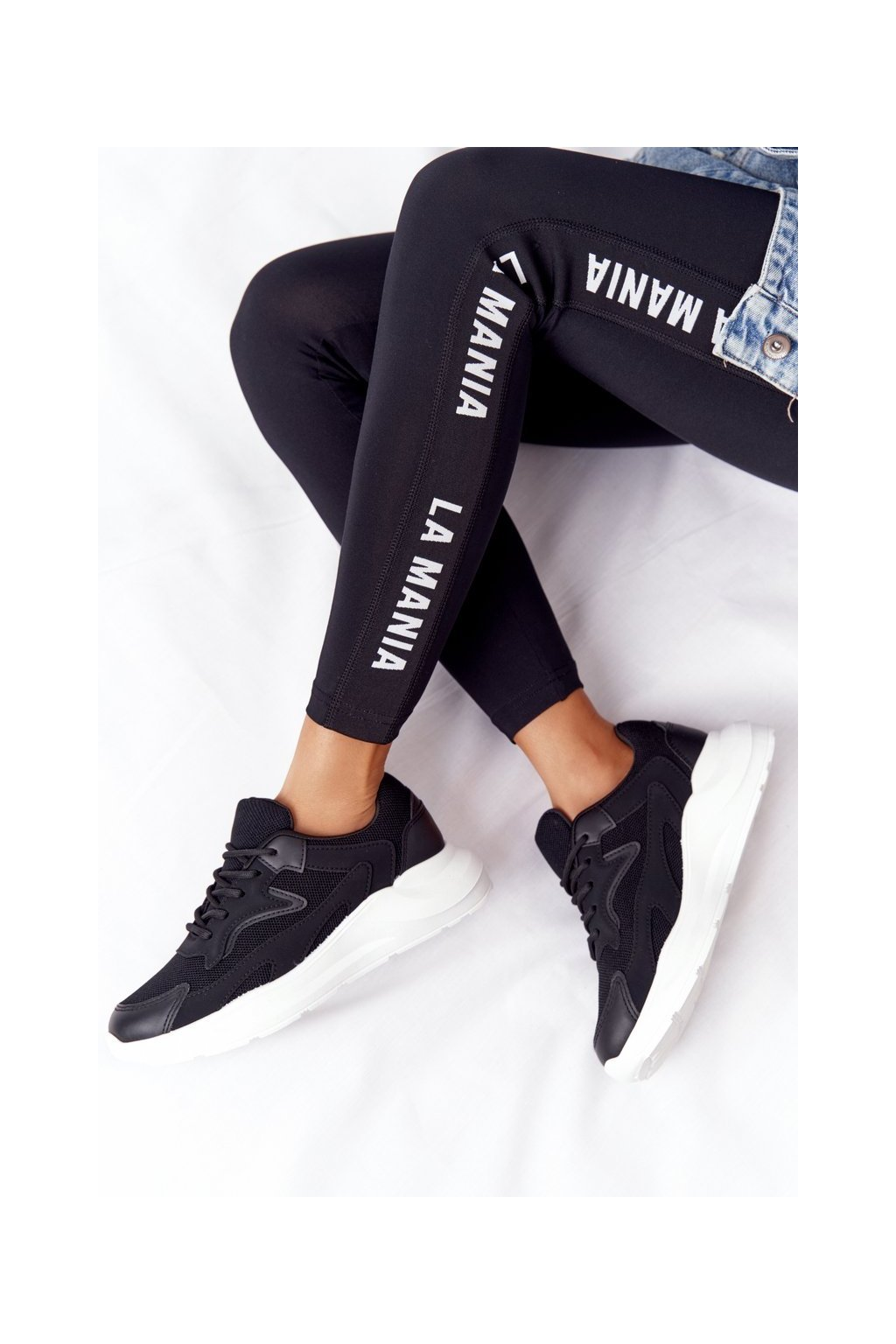 Dámske tenisky farba čierna kód obuvi YL-59 BLK