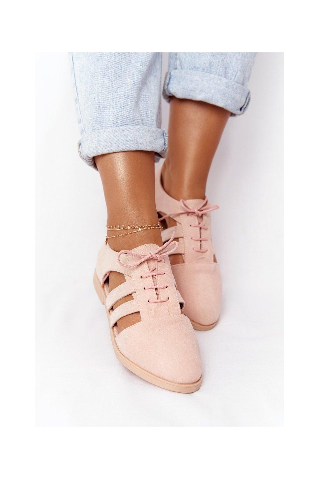 Dámske poltopánky farba ružová kód obuvi 8969-158A PINK