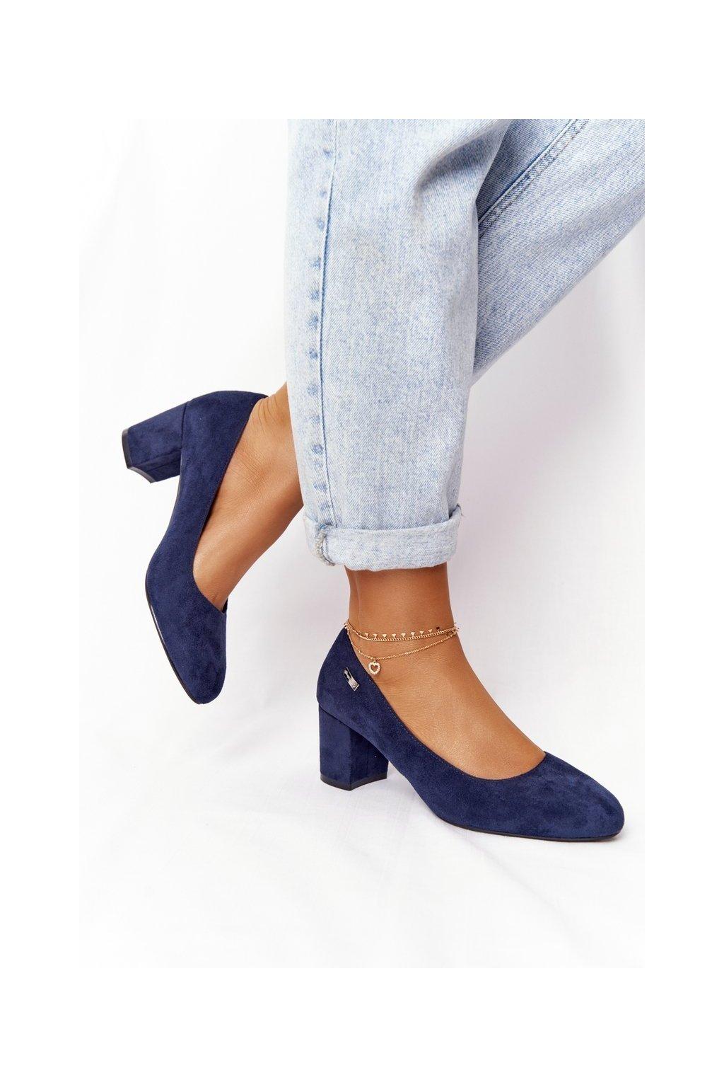 Dámske lodičky farba modrá kód obuvi PB178 NAVY