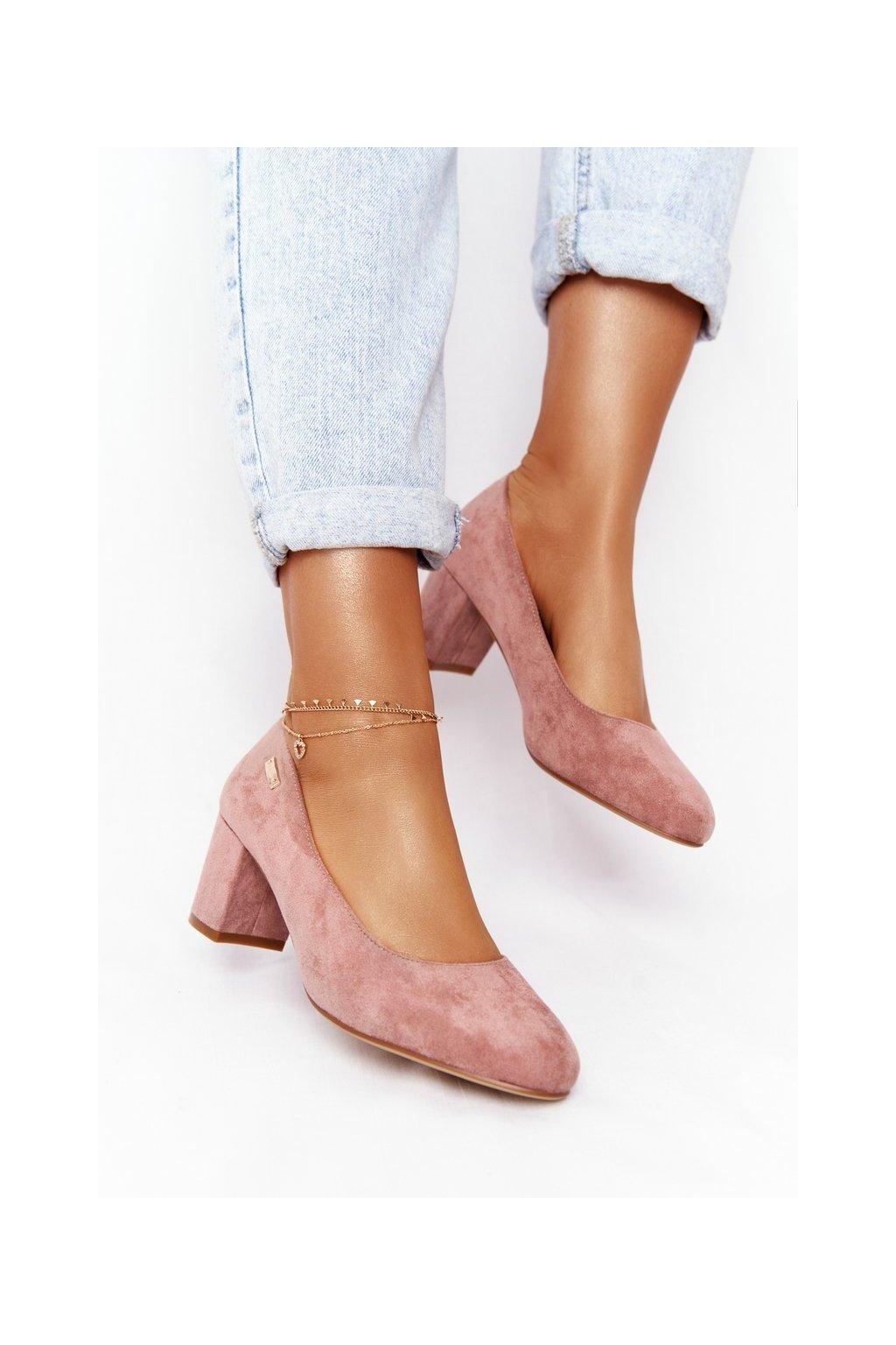 Dámske lodičky farba ružová kód obuvi PB178 PINK