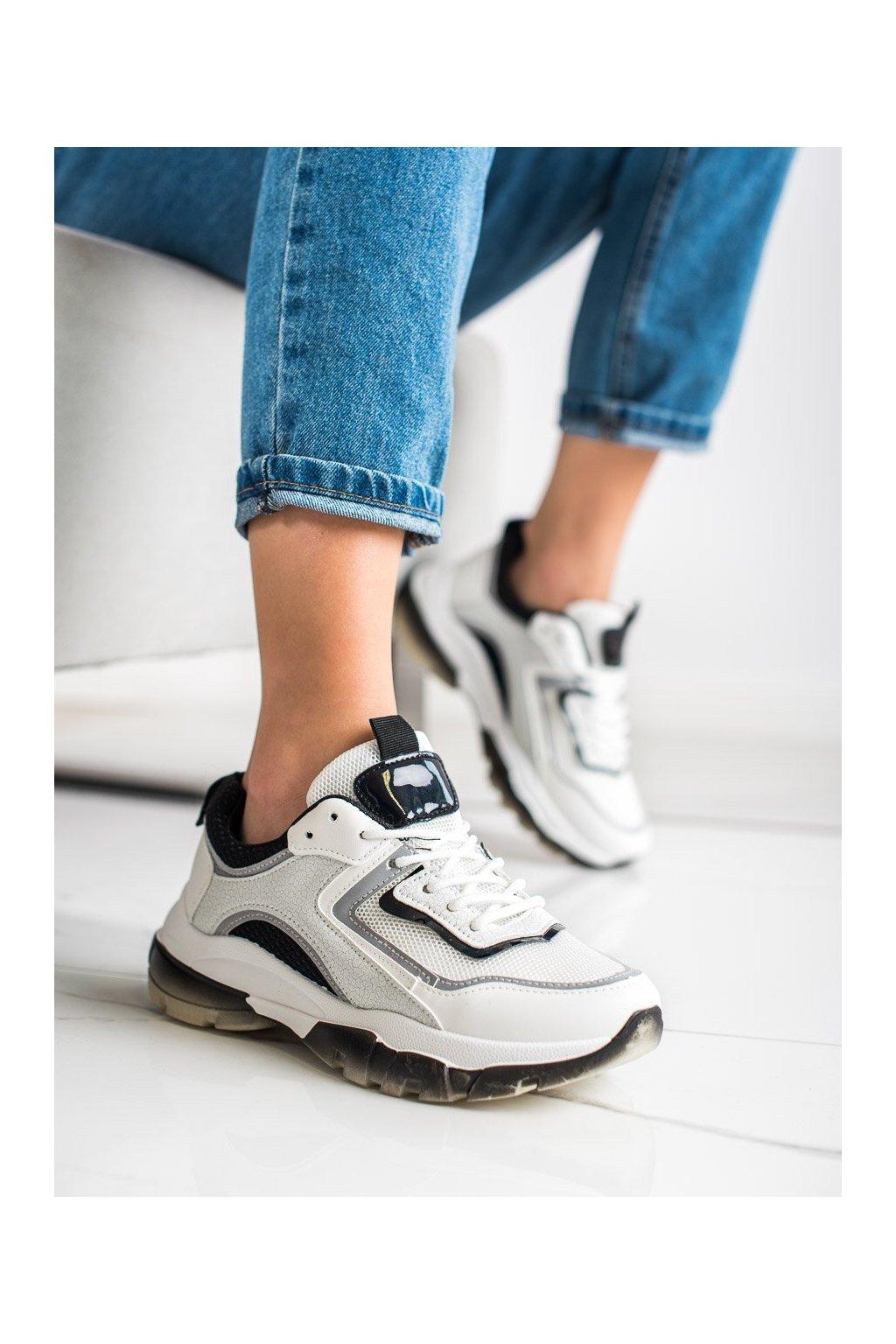 Biele tenisky Ideal shoes kod 9796B