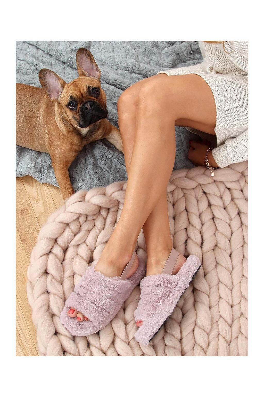 Damske ponožky fialové X8130