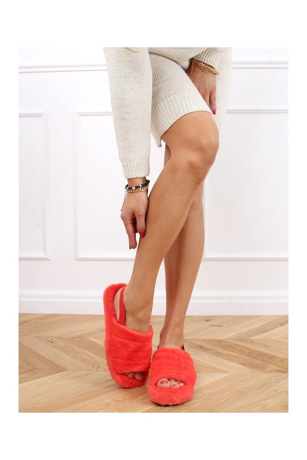 Damske ponožky oranžové X8130