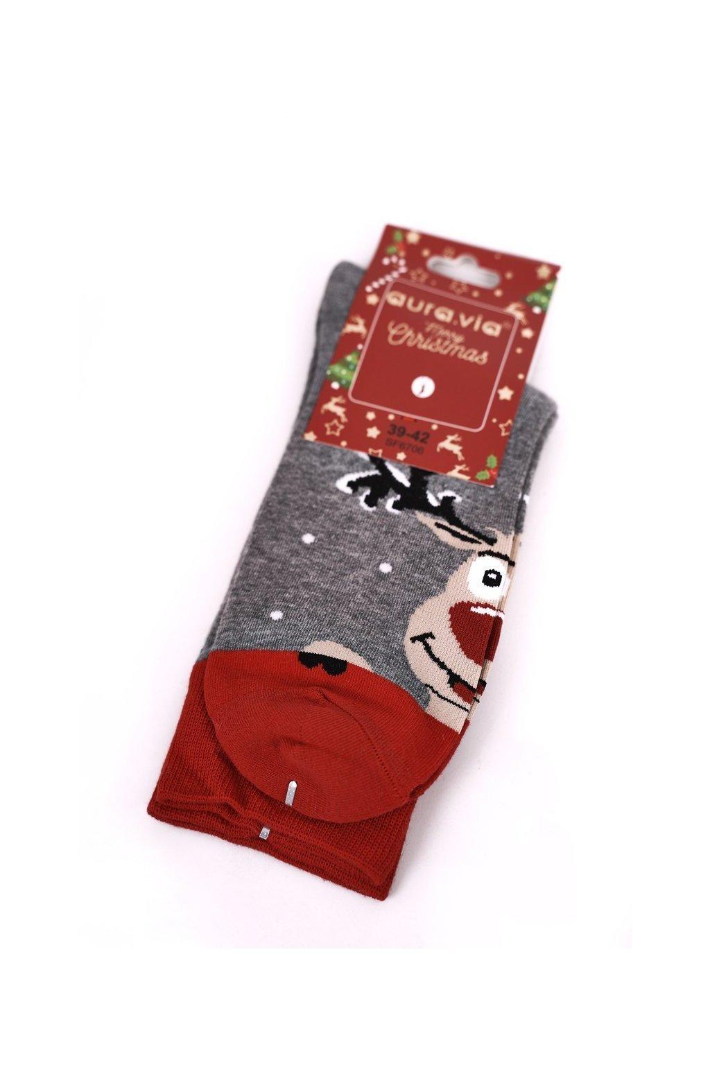 Pánske ponožky farba sivá NJSK SF6706 GREY