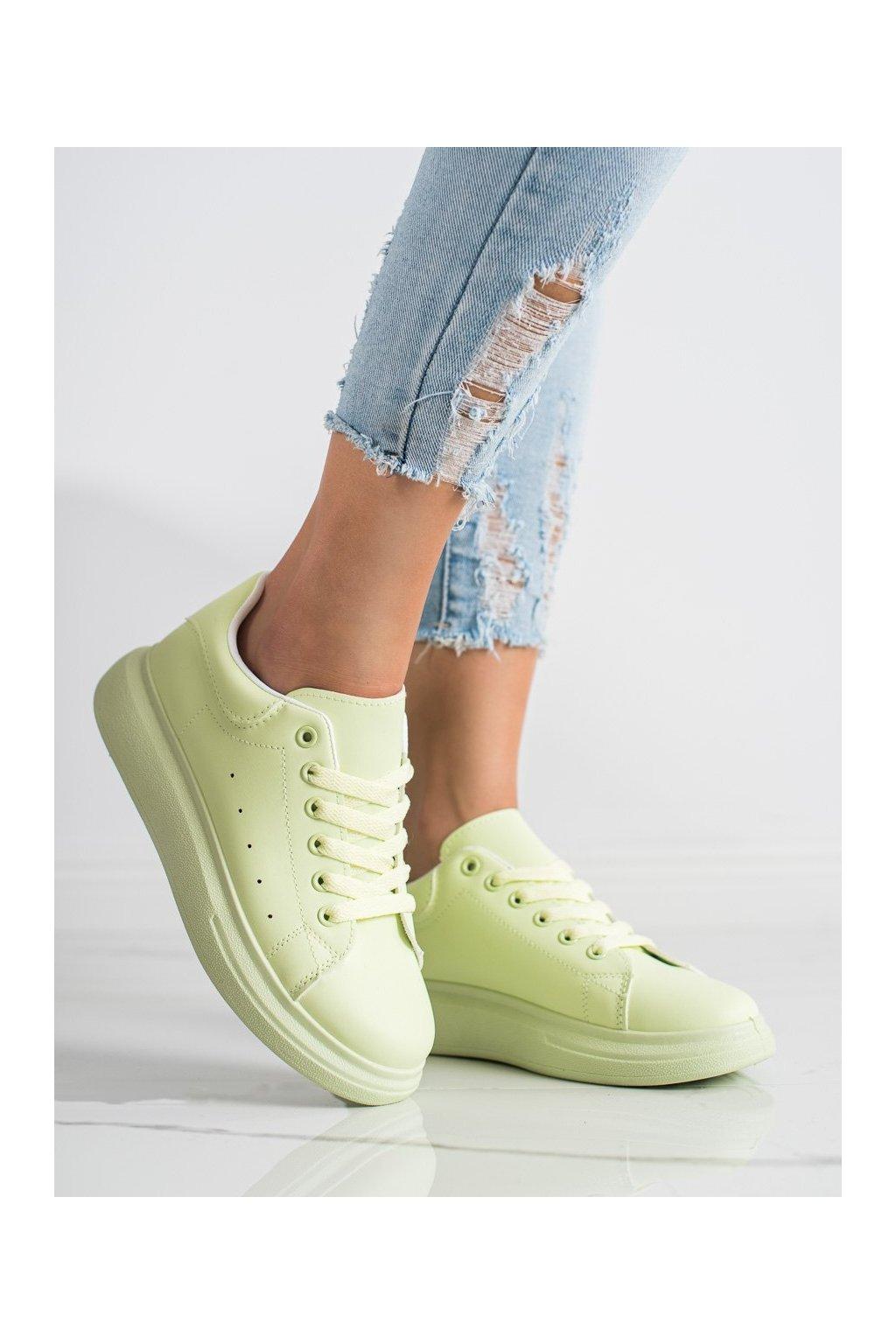 Zelené tenisky Shelovet kod WBH01L.GR