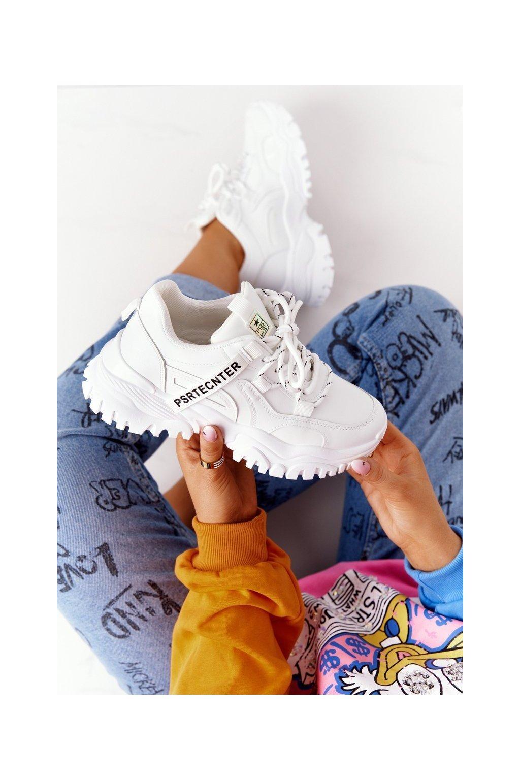 Dámske tenisky farba biela kód obuvi 21SP26-3925 WHITE