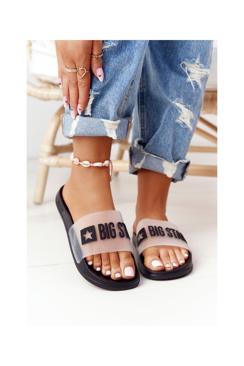 Dámske šľapky farba čierna kód obuvi FF274A200 BLK
