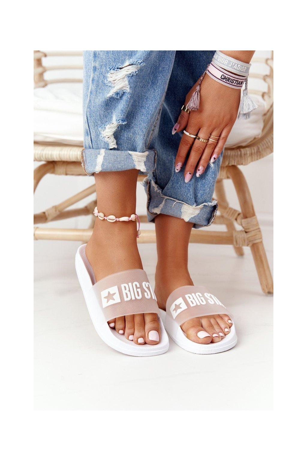 Dámske šľapky farba biela kód obuvi FF274A199 WHITE