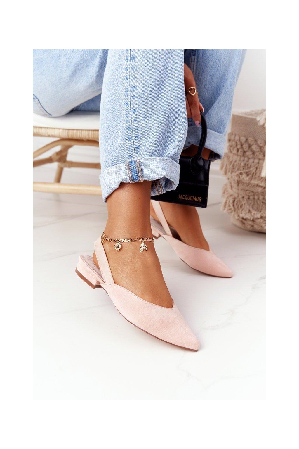Dámske balerínky farba ružová kód obuvi 1481-3 PINK