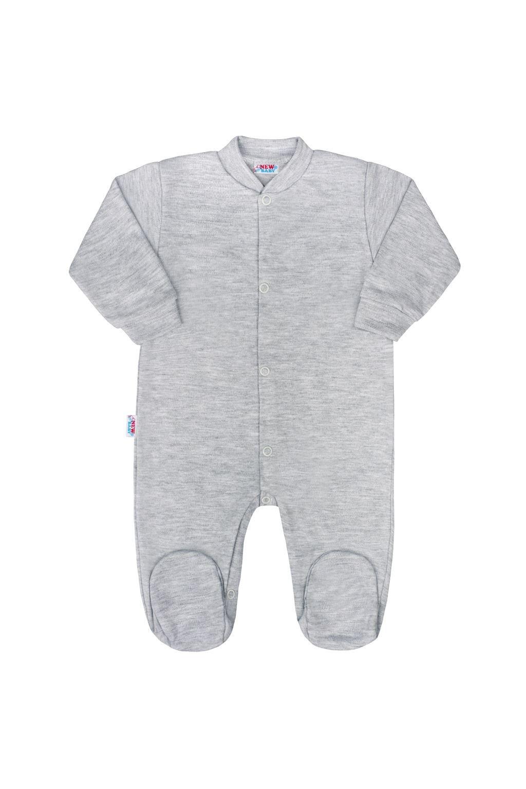 Dojčenský overal New Baby Classic II sivý NJSK 35084
