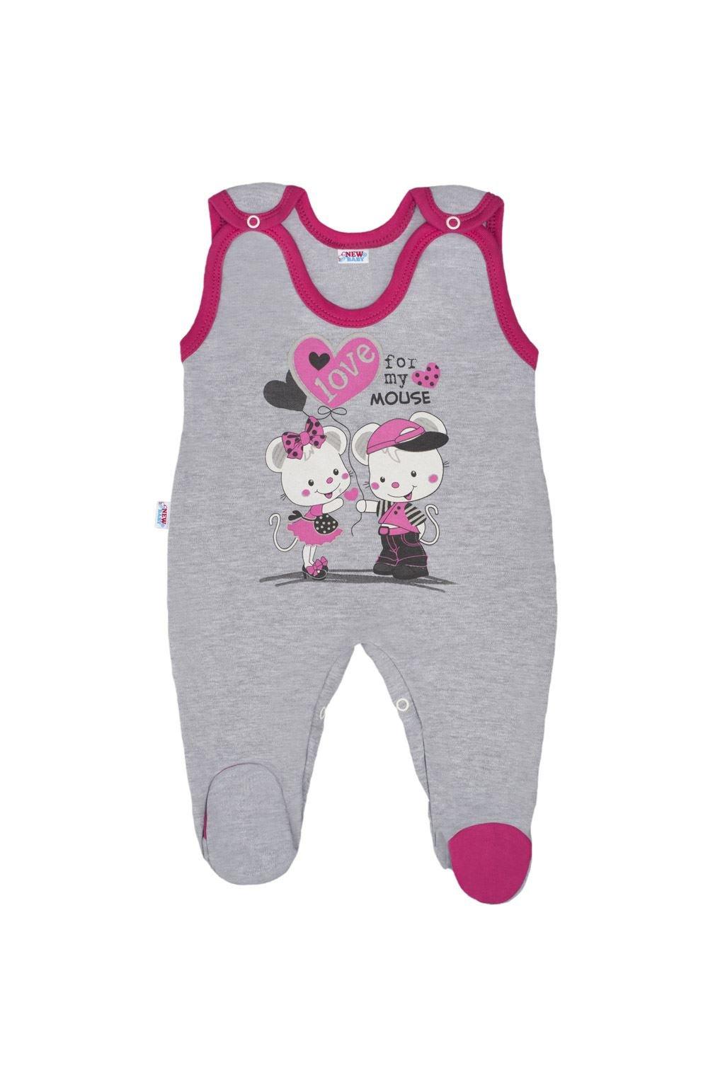 Detské dupačky New Baby Love Mouse NJSK 35614