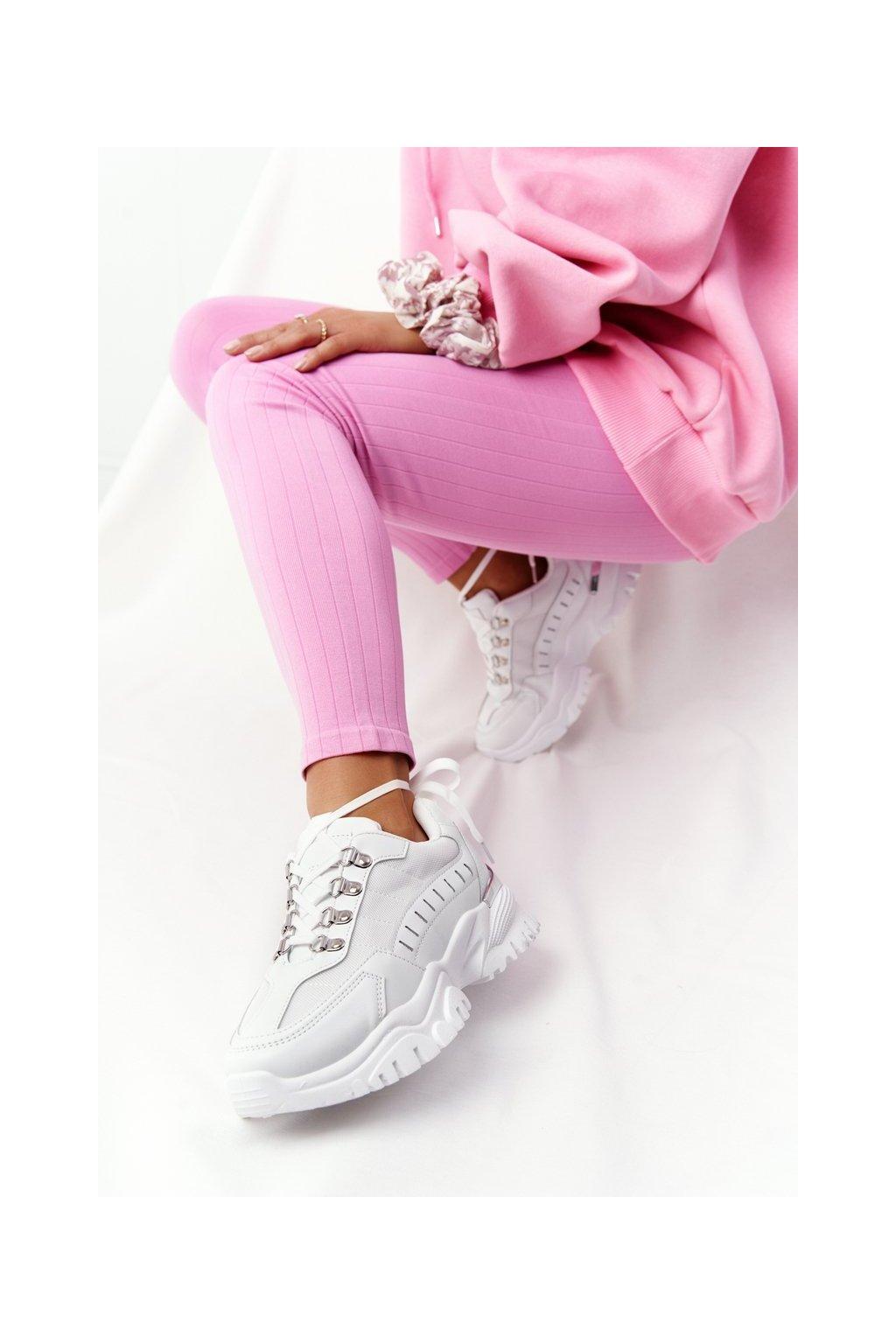 Dámske tenisky farba biela kód obuvi VL131P WHITE