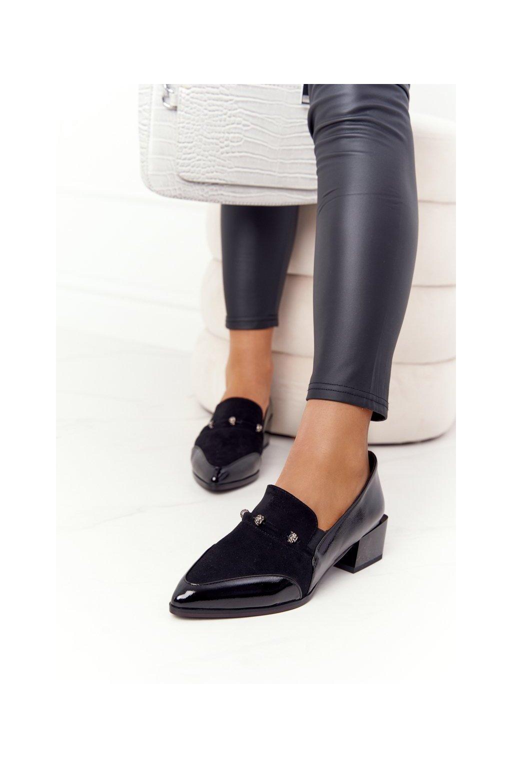 Dámske lodičky farba čierna kód obuvi A15 BLACK