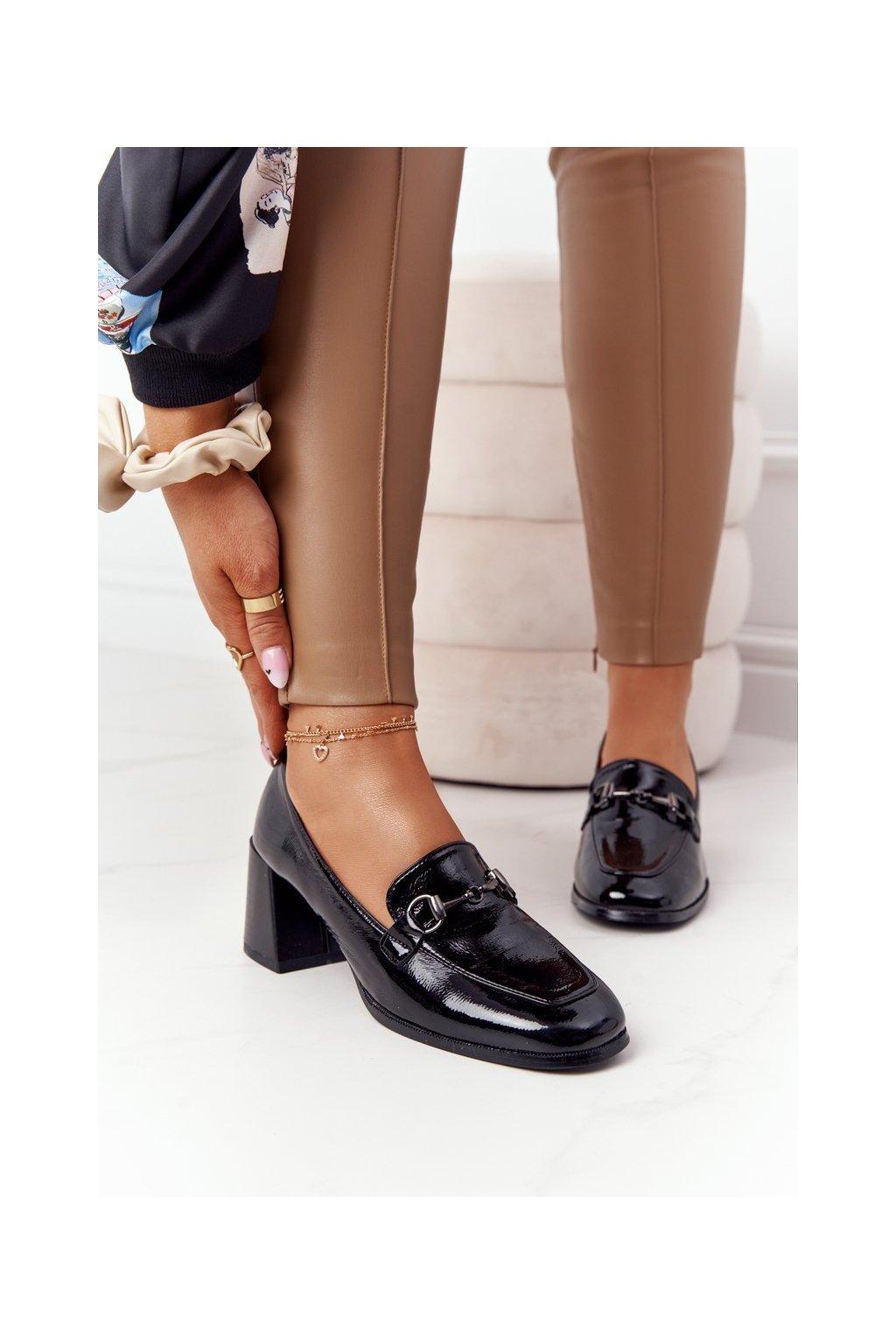 Dámske lodičky farba čierna kód obuvi A17 BLACK