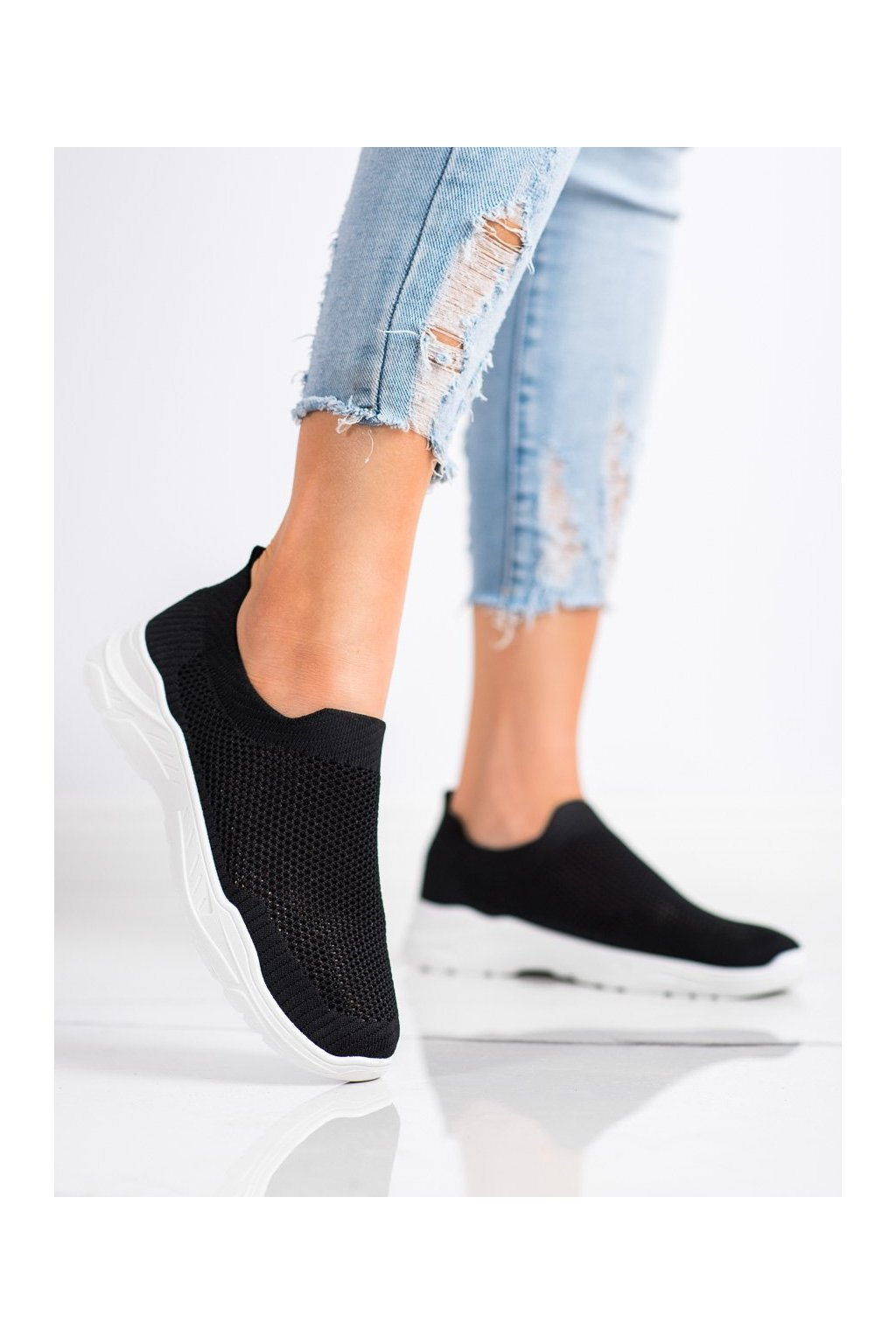 Čierne tenisky Ideal shoes kod 9865B