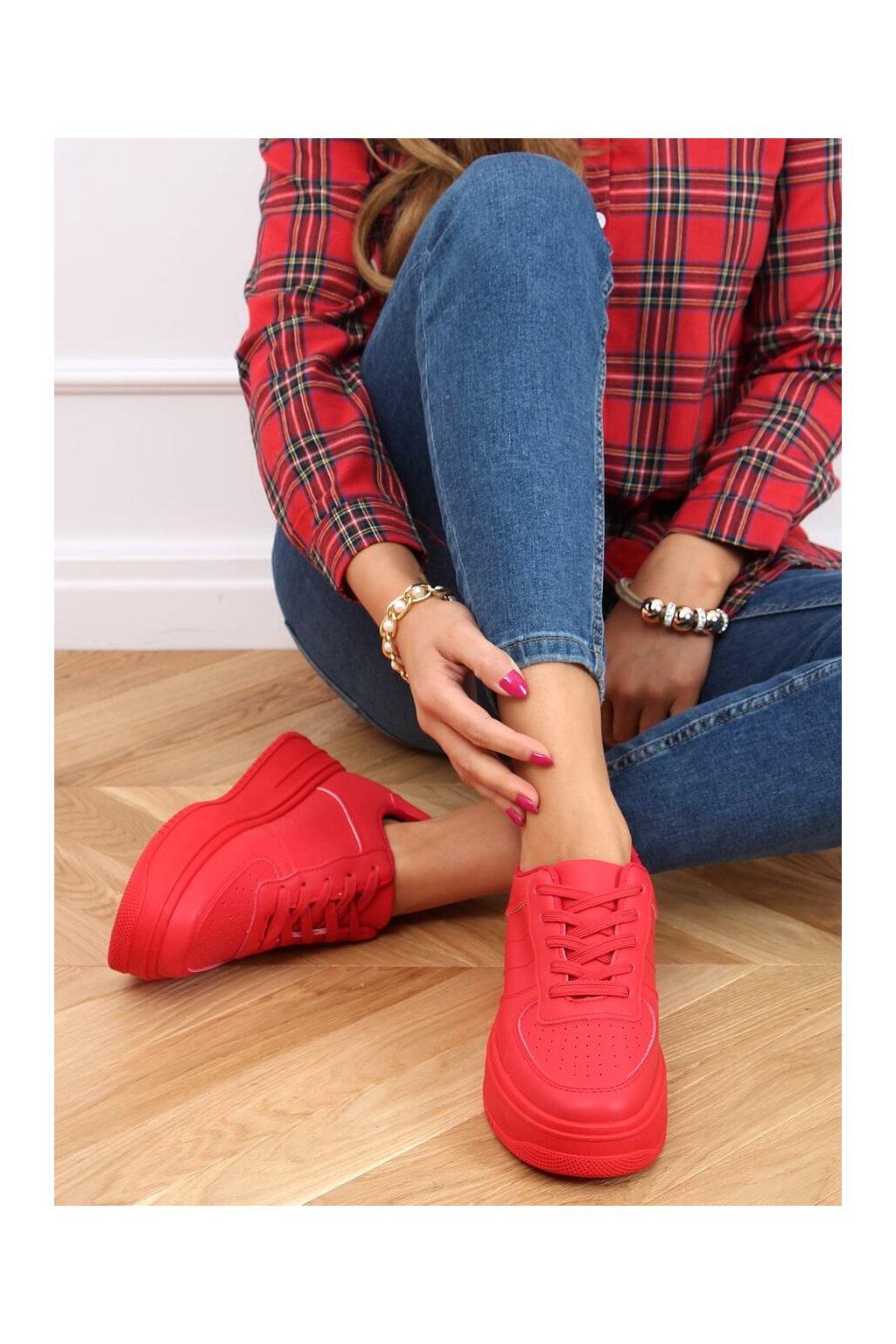 Dámske tenisky červené G191