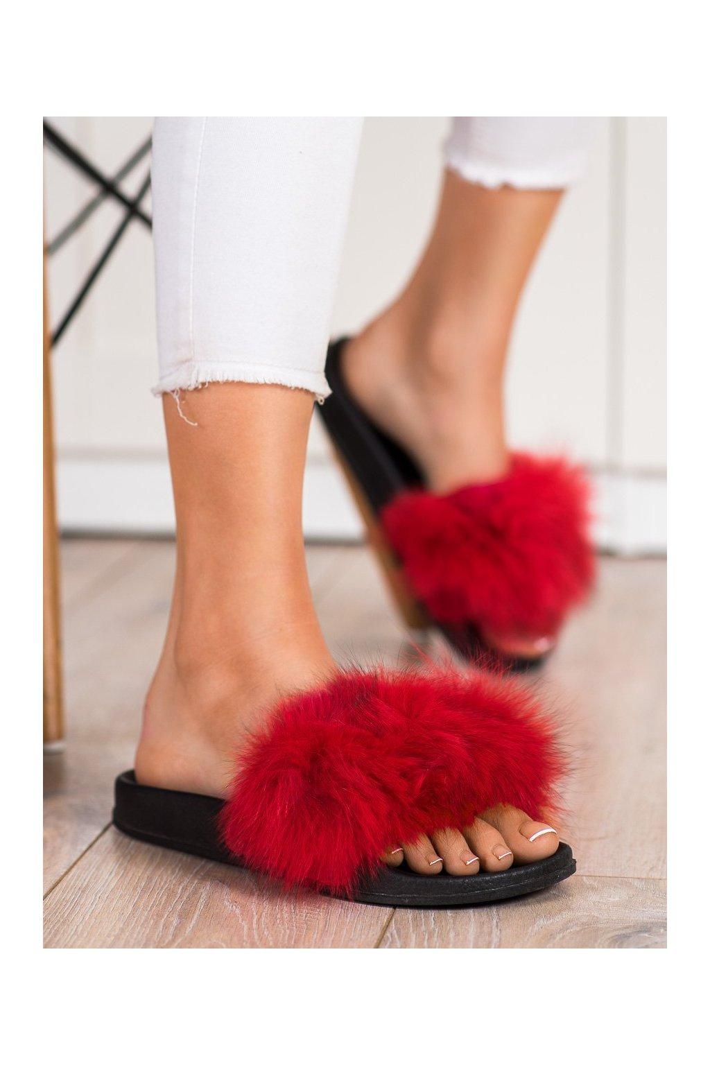 Červené dámska obuv na doma Bona kod RS-45R