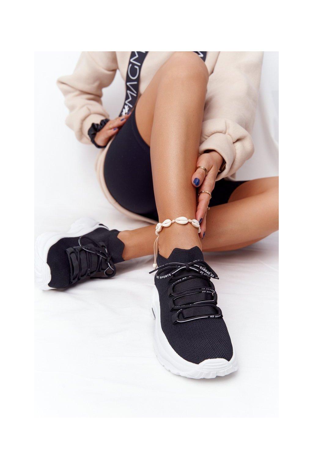 Dámske tenisky farba čierna kód obuvi DKB2518 BLACK