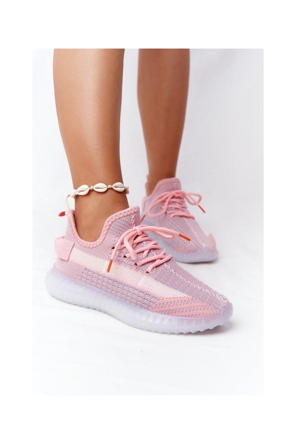 Dámske tenisky farba ružová kód obuvi 1087 PINK