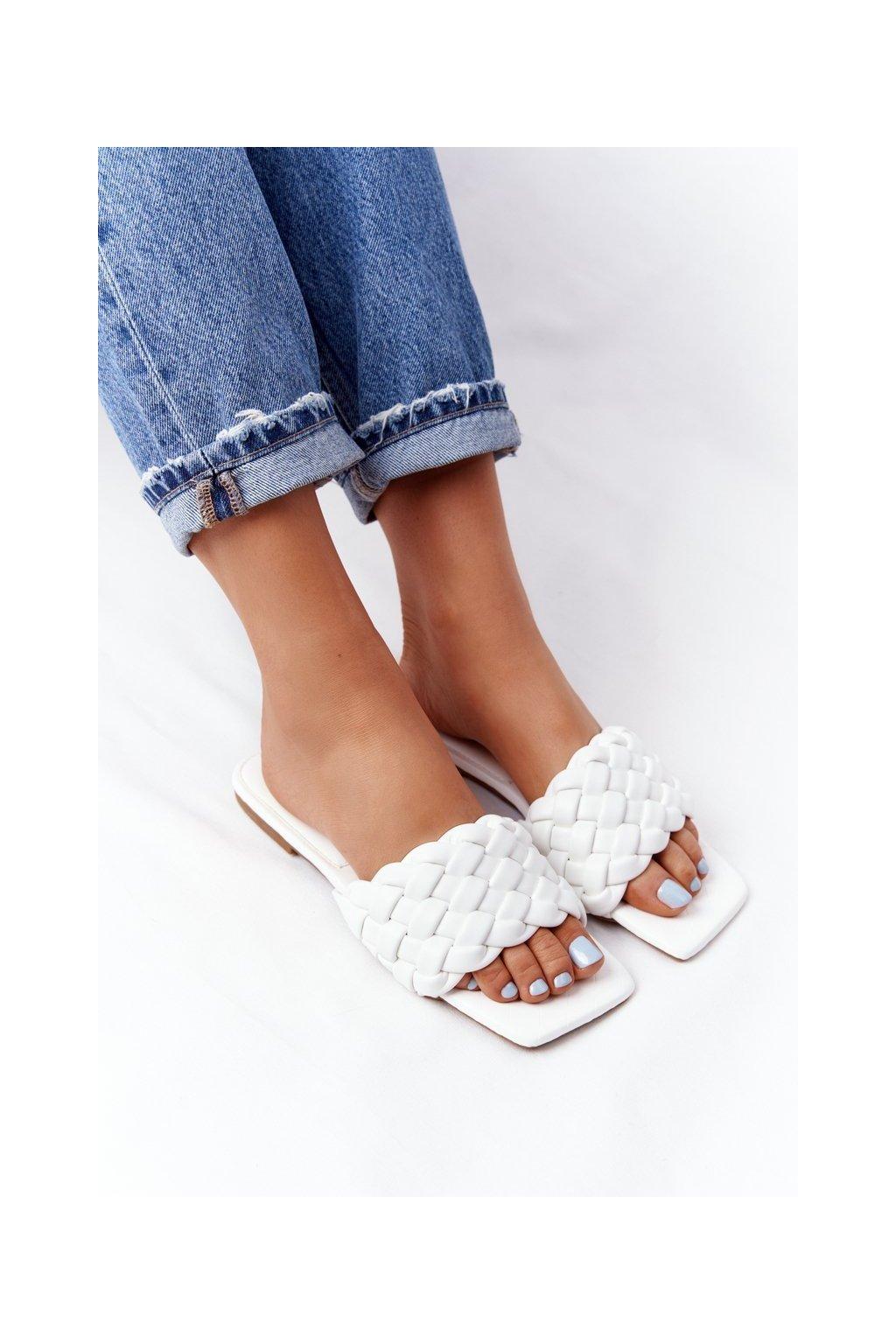 Dámske šľapky farba biela kód obuvi T372P WHITE