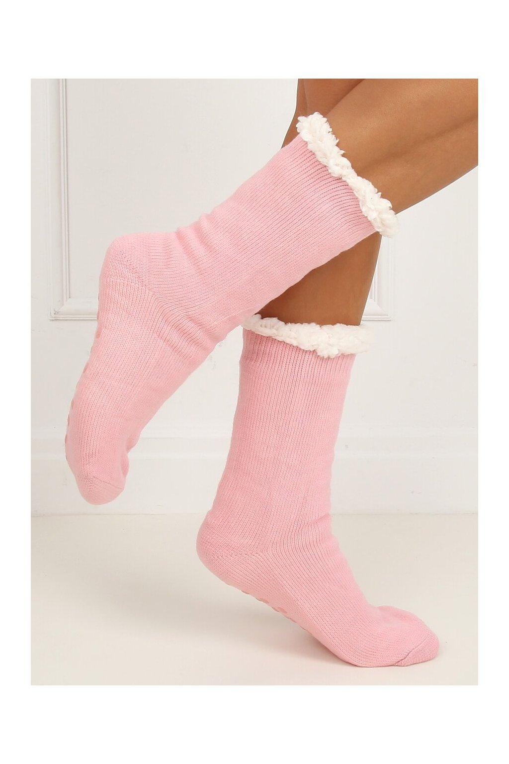 Damske ponožky ružové NJSK DN012