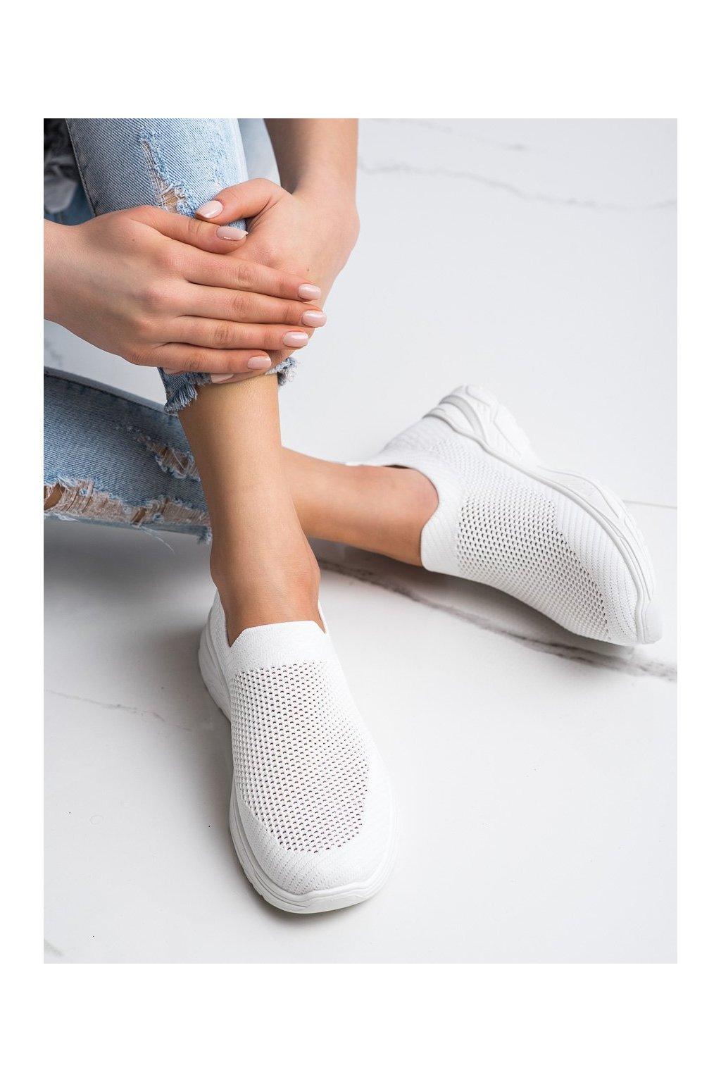 Biele tenisky Ideal shoes kod 9865W