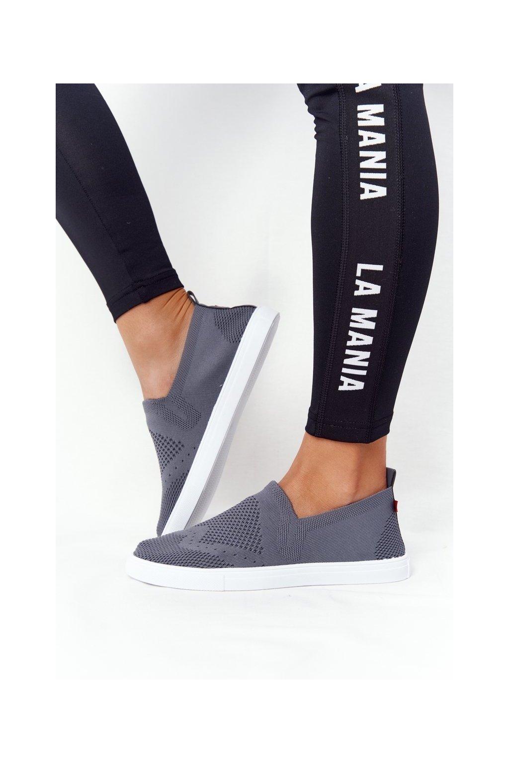 Dámske tenisky farba sivá kód obuvi FF274A607 GREY