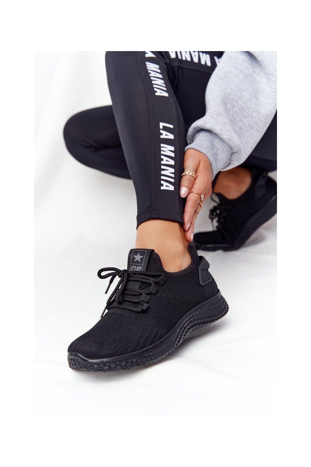 Dámske tenisky farba čierna kód obuvi 21TX02-3634M BLK