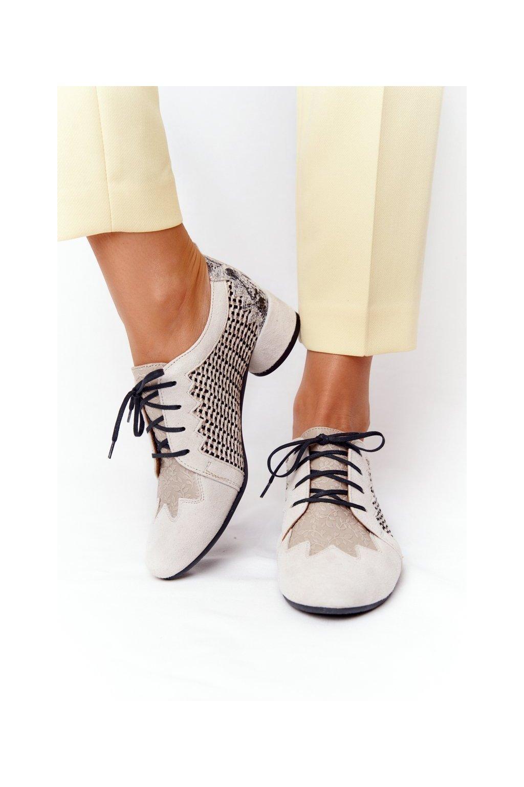 Dámske poltopánky farba hnedá kód obuvi 04890-04/00-5 BEŻ