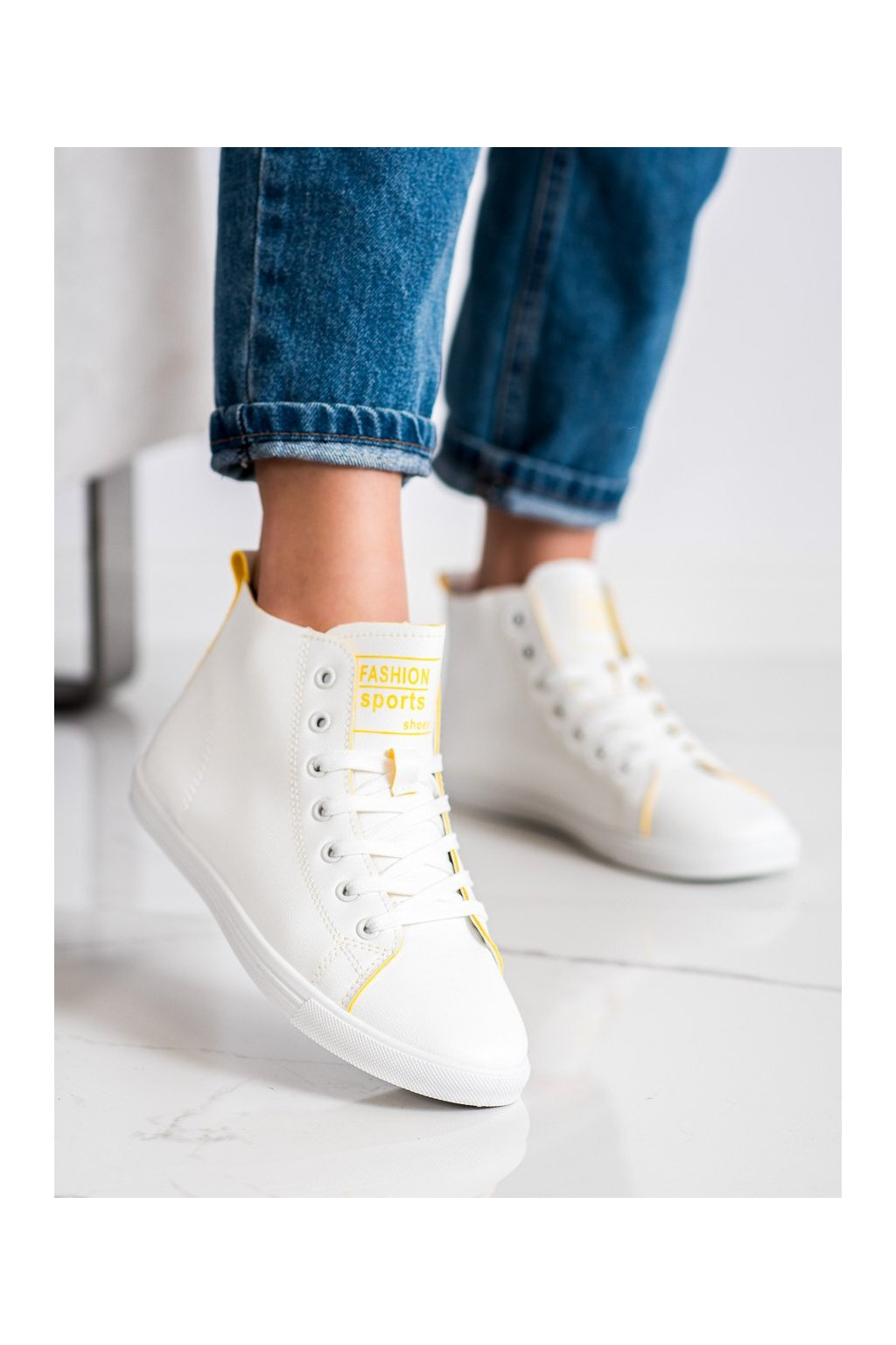 Biele tenisky Ideal shoes kod LX-9858W/Y
