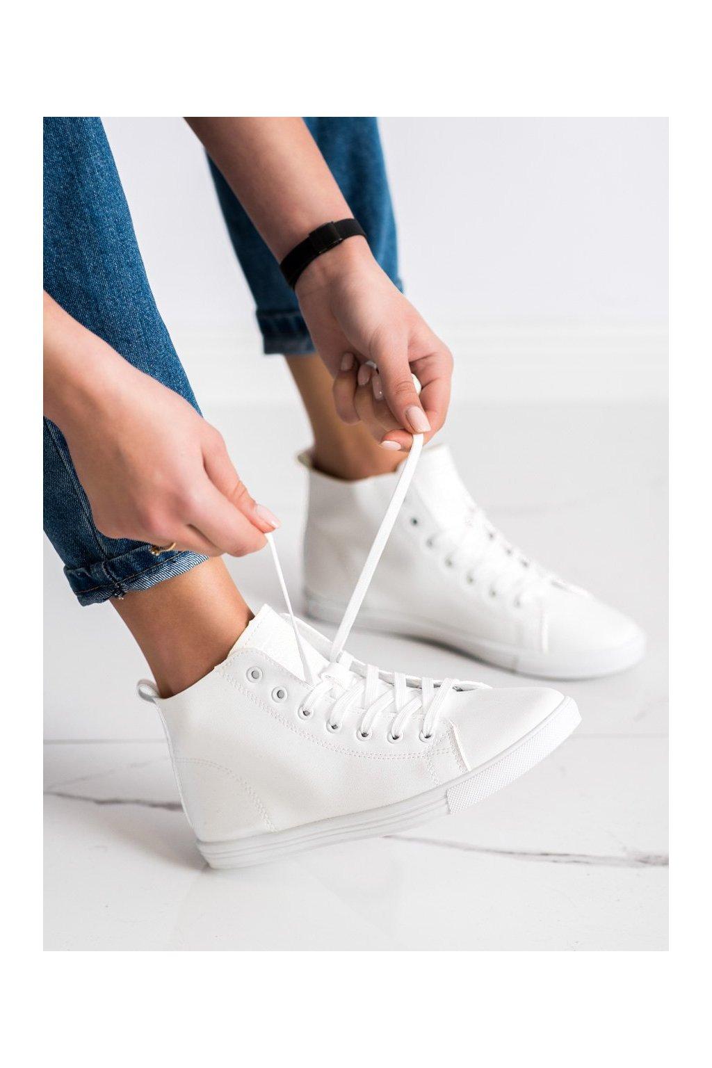 Biele tenisky Ideal shoes kod LX-9858W