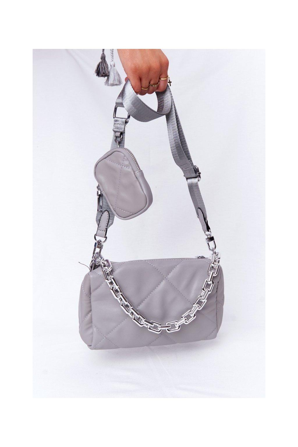 Dámska kabelka sivá kód kabelky AM-22 GREY