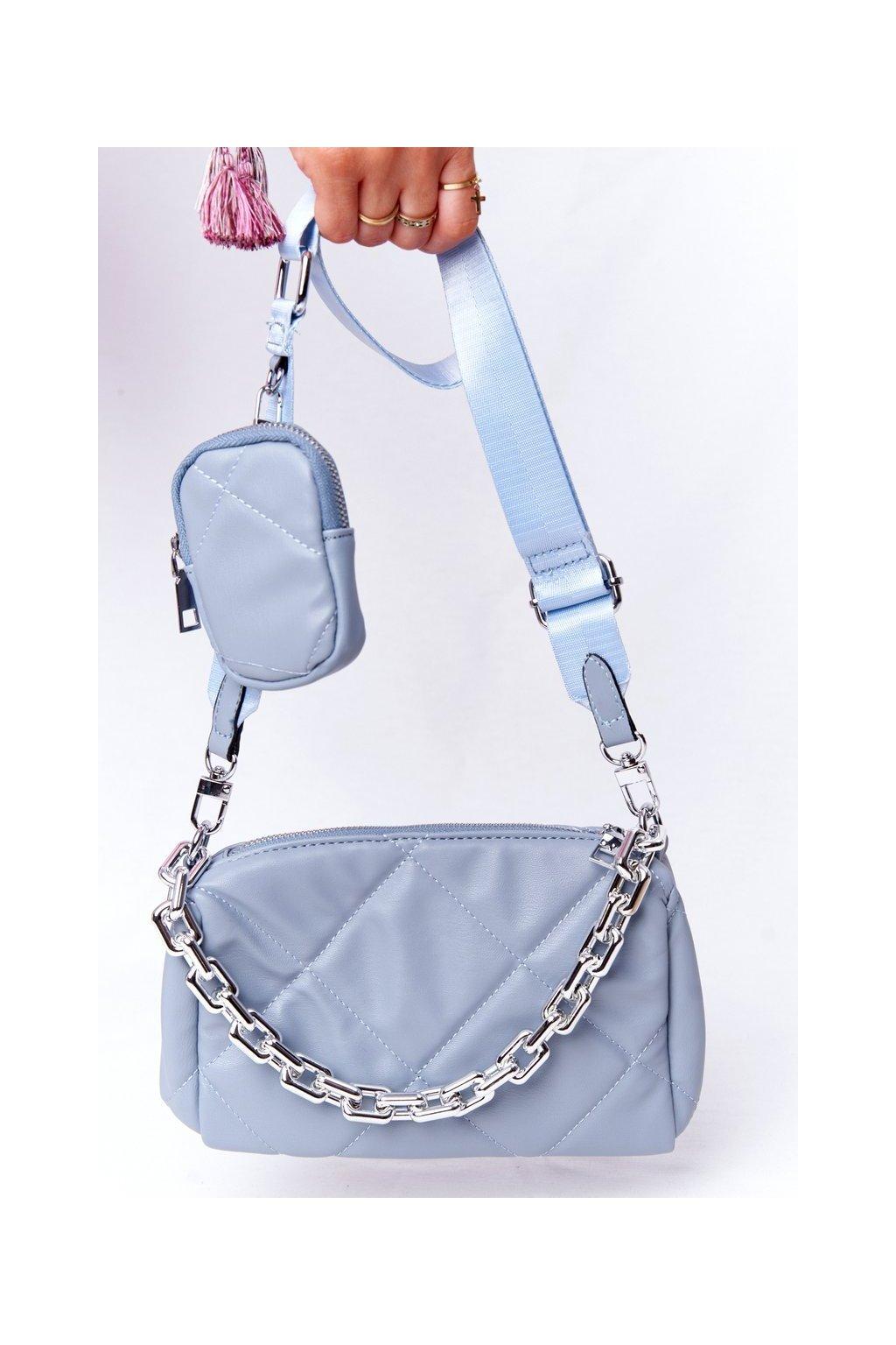 Dámska kabelka modrá kód kabelky AM-22 L.BLUE