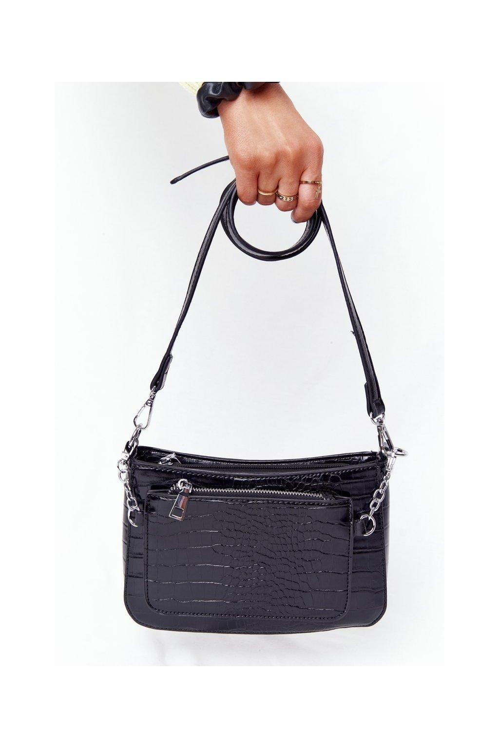 Dámska kabelka čierna kód kabelky AM-27 BLACK