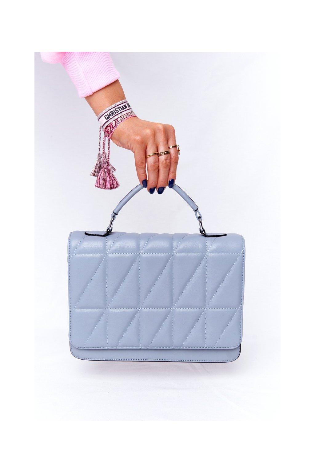 Dámska kabelka modrá kód kabelky AM-23 L.BLUE