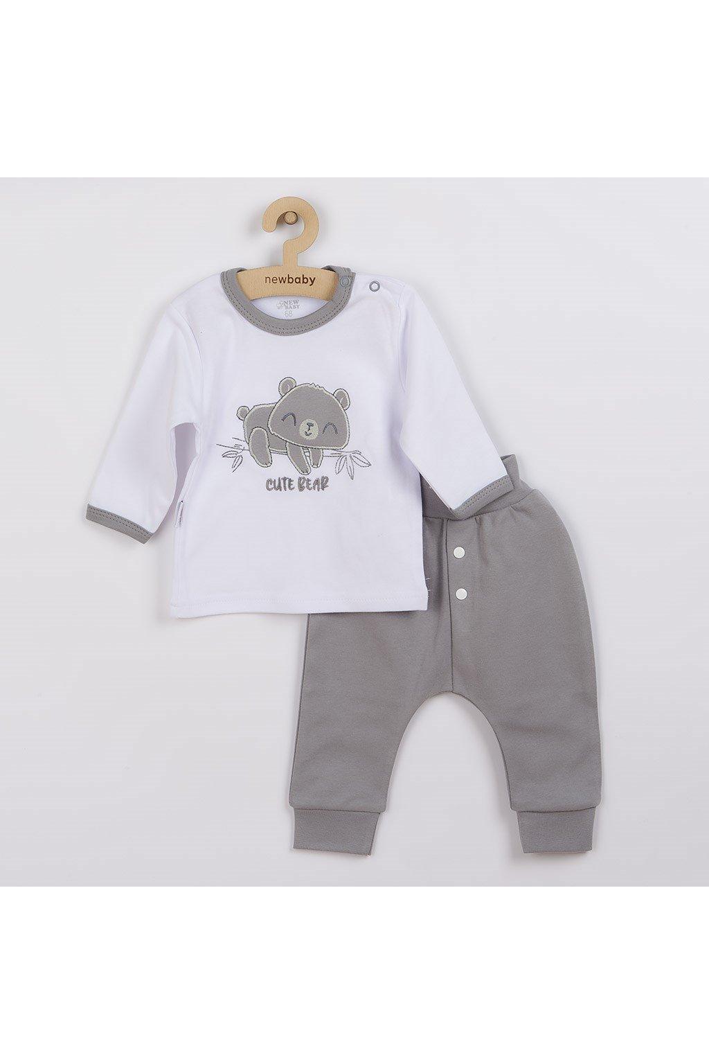 2-dielna dojčenská bavlnená súpravička New Baby Cute Bear