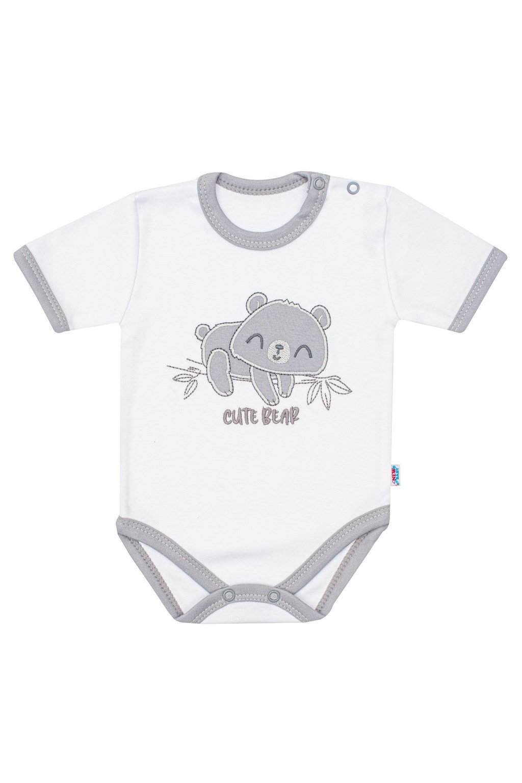 Dojčenské bavlnené body s krátkym rukávom New Baby Cute Bear