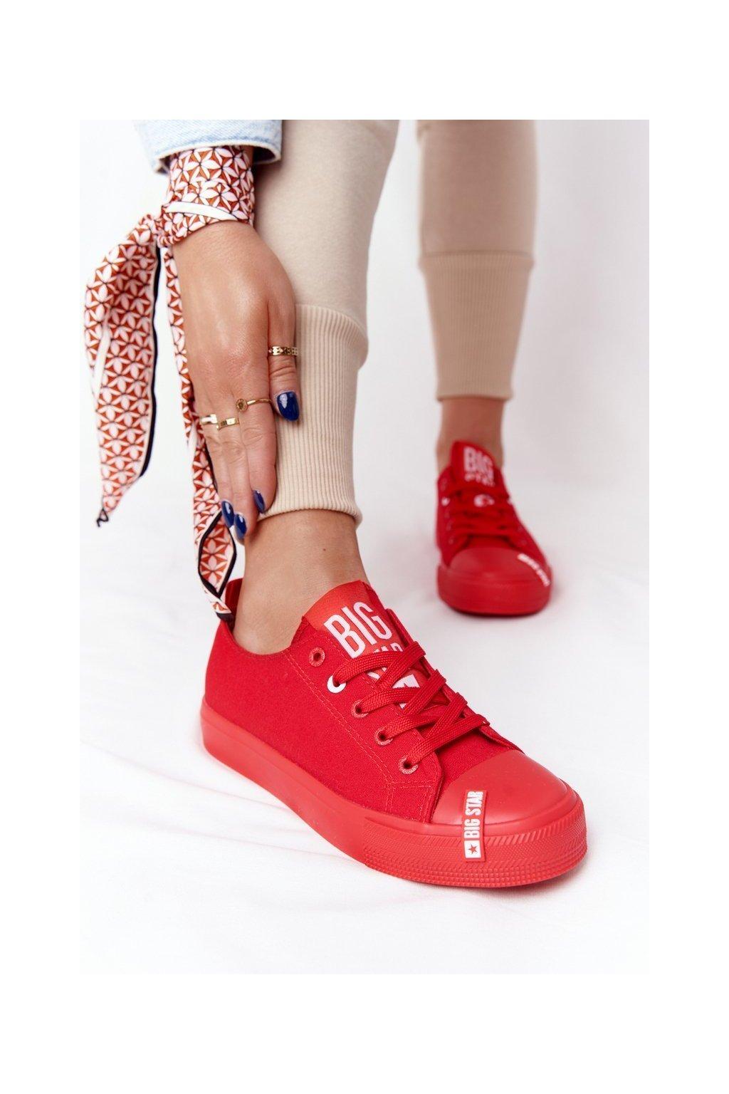 Dámske tenisky farba červená kód obuvi HH274677 RED