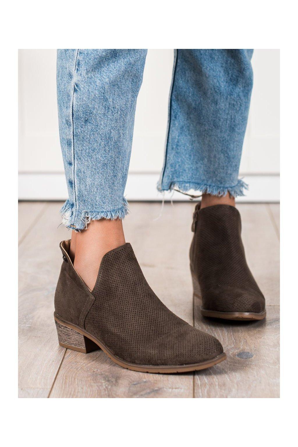 Hnedé dámske topánky Filippo kod DBT2071/21BR