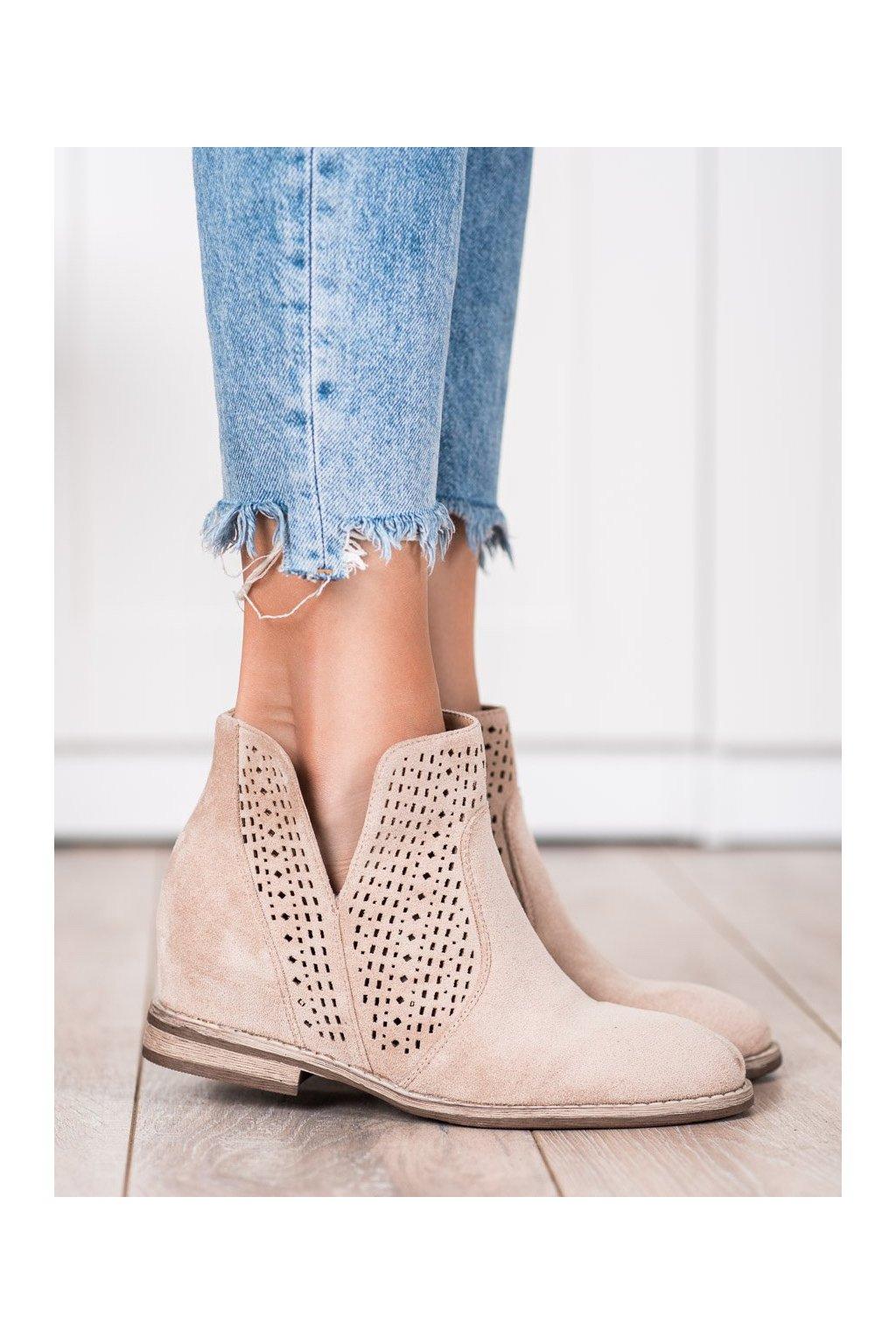 Hnedé dámske topánky S. barski kod 208-1BE