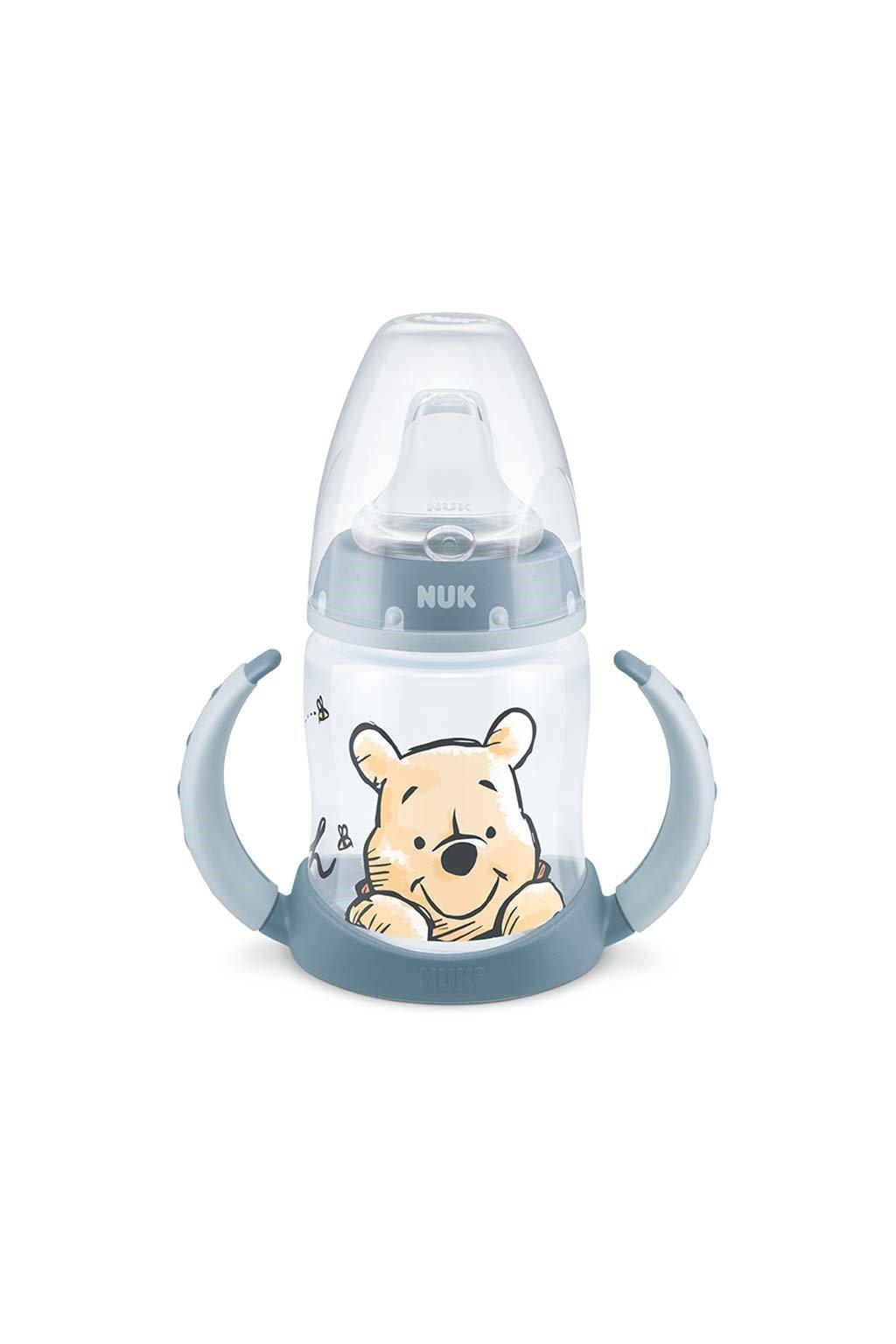 Dojčenská fľaša na učenie NUK 150 ml Disney Medvedík Pú modrá