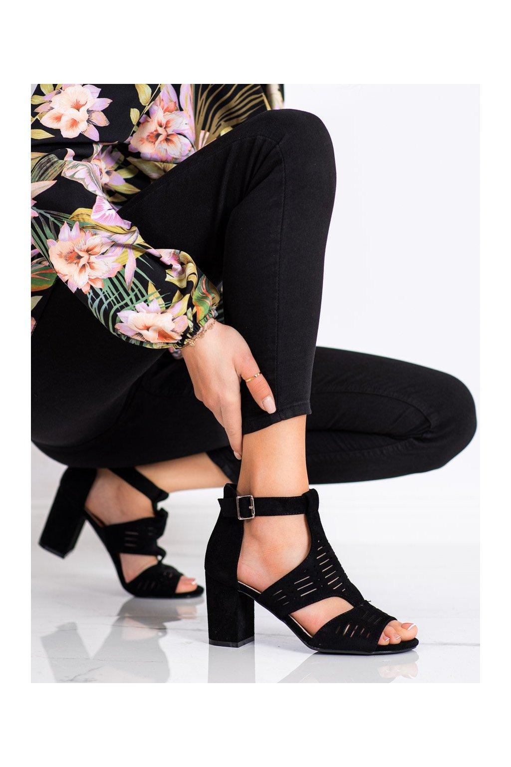 Čierne sandále Sergio leone kod SK903B